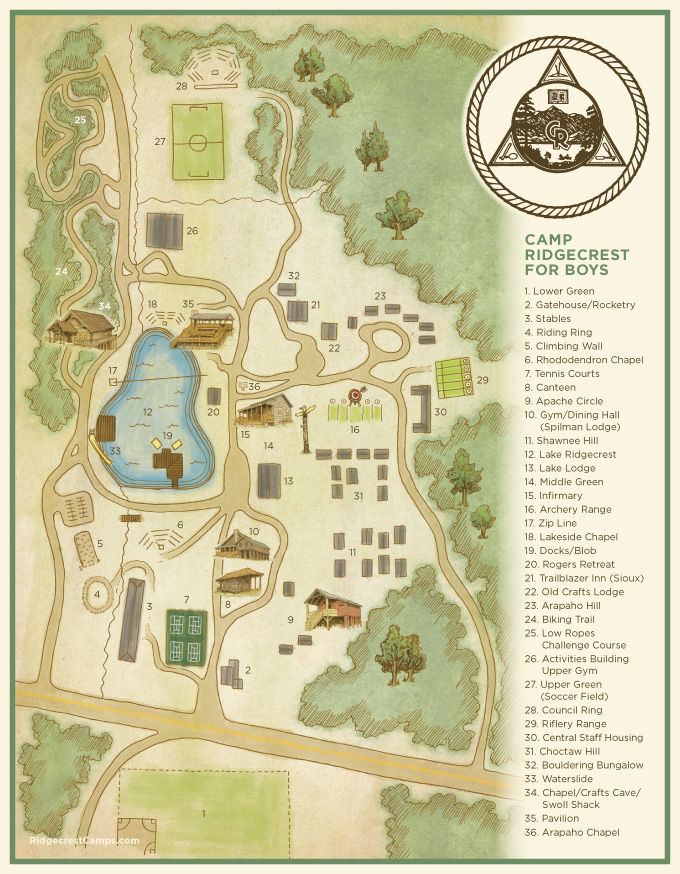 Camp Ridgecrest Map